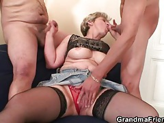 Granny cunt and mouth stretch around dick tubes