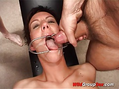 Babe gets wild group hard fuck tubes