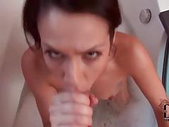 Cute cocksucker in a bubble bath tubes