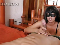 Sultry dance and tasty cocksucking with Mexican tubes