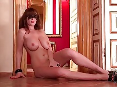 Naked masked chick has incredible tits tubes