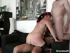 Mature redhead hardcore sex in the office tubes