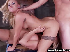 Two babes and their cock have fun tubes