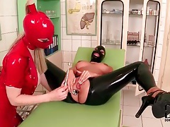 Kinky lesbian play with latex clad hotties tubes