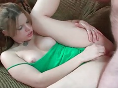 Amateur with a big ass sits on dick tubes
