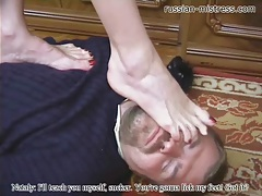 Burglar caught and punished by mistress tubes