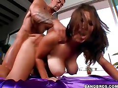 BBW blowjob babe bends over for dick tubes