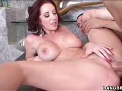 Jayden Jaymes injected with hard cock tubes