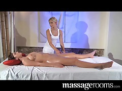 Massage Rooms Hot lesbian clit massage for beautiful brunette tubes