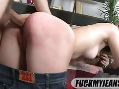 Cute young lady lets him fuck her ass doggsytyle tubes
