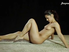 Fit ballerina body in the nude is yummy tubes