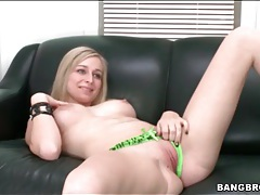 Casting couch striptease with a big tits chick tubes