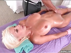 Puma Swede on massage table for rubdown tubes
