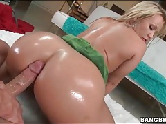 Ass coated in oil and looking hot in fuck video tubes