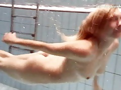 Sparkly bikini top is hot on swimming girl tubes