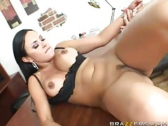 Cumshot on tits of slutty pornstar Mariah Milano tubes