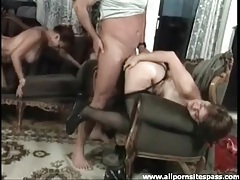 Vigorous mature blowjob and hardcore anal tubes