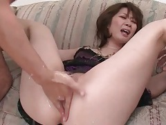 Pussy fingered and then he takes her ass tubes