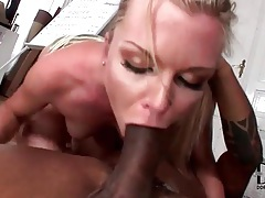 She tries to deepthroat his entire BBC tubes