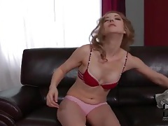 Cute girl with a big booty does a striptease tubes