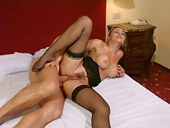 She rides big cock with her tight asshole tubes