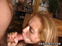 Mature amateur wife toys, sucks and fucks with facial tubes
