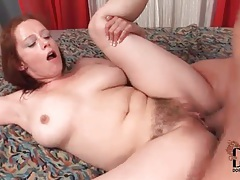 Fucked in the hairy pussy until he cums tubes