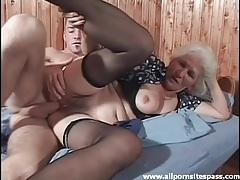 Hairy granny in stockings fucked hardcore tubes