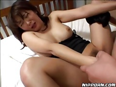 He drives his dick into her hairy pussy tubes