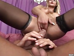 Cock from well fucked asshole cums on sluts tubes