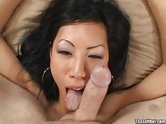 Handjob from hot Asian with fake tits tubes