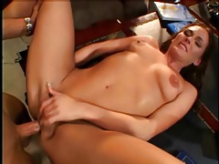 Talented porn slut in deepthroat face fuck and cunt bang tubes