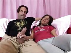 Sweet Eva Ellington jerks him off to orgasm tubes