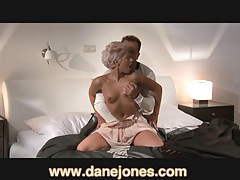 DaneJones Very sexy girl gets passionate in bed tubes