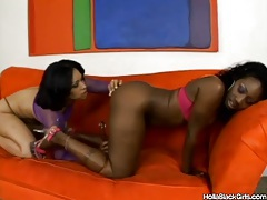 Curvy black girls use their toys in lesbian video tubes
