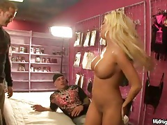 Porn scene filmed in a porn store is hot tubes