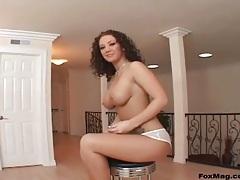 Jayden Jaymes teases big ass in sheer panties tubes