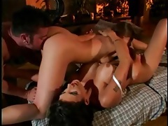 Erotic pornstar massage becomes lesbian threesome tubes