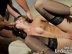 Kinky fuckdoll Doris Ivy is being dominated by a pervert guy. tubes