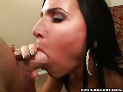 Brown eyed milf sucks off a dick with great skill tubes