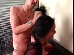 Rough threesome with DP and ass licking tubes