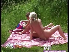 Shaved lesbian teens on a picnic have hot sex tubes