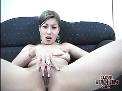 Cute girl with tiny tits sucks his black cock tubes