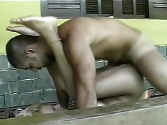 Blonde shemale rims and fucks him outdoors tubes