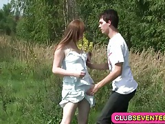 Busty pale teenager fucked outdoors tubes