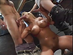 Trina Michaels DP in the boxing ring is hot tubes