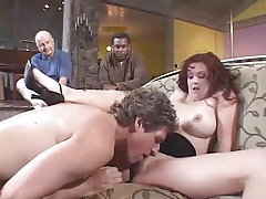 Black guy watches white wife have cuckold anal tubes