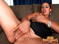 Arab milf with hot tits gives head tubes