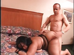 Hotel room fuck with a black BBW tubes