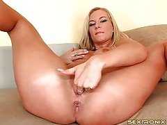 Euro girl sucks dick and fondles perky tits tubes